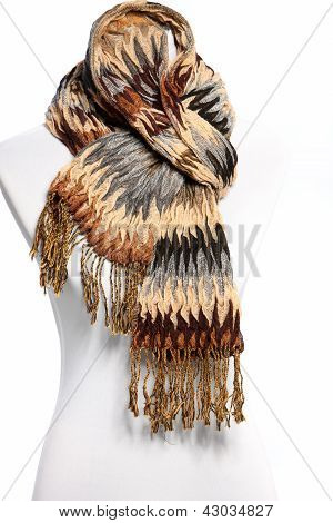 Mannequin In A Warm Winter Scarf