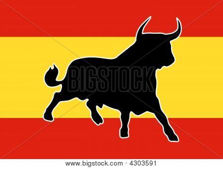 Black Bull With White Outline