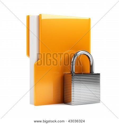 Folder With Padlock