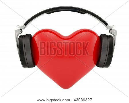 Heart With Earphones