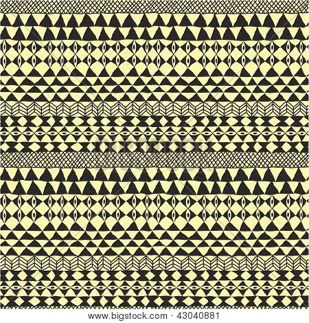 Geometrical Black And White Ethnic Pattern