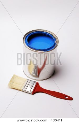 Signs And Symbols Of Home Decorating, Paint And Paintbrush