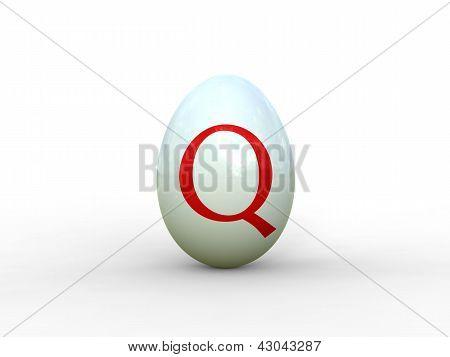 Egg Letter Q
