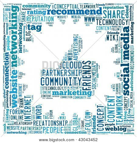Social Media Concept in word collage