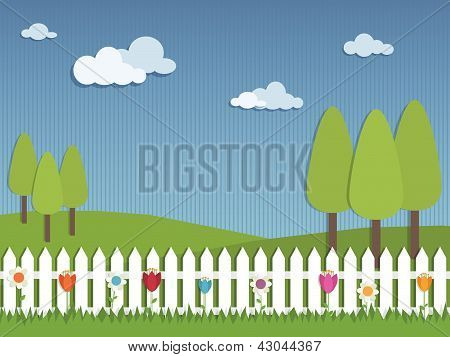 Picket Fence Landscape