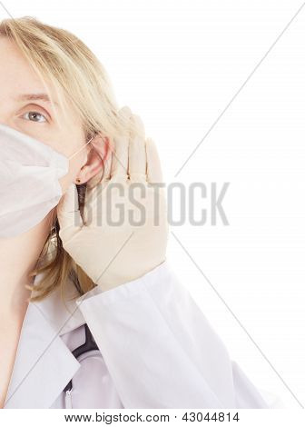 Medical Doctor Listening Something