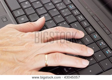 Person Typing On The Computer