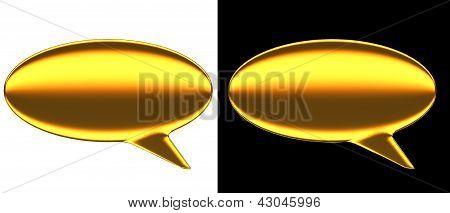 Text Bubble Gold