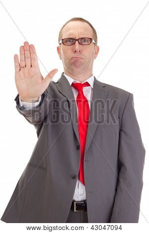 Businessman Showing Stop