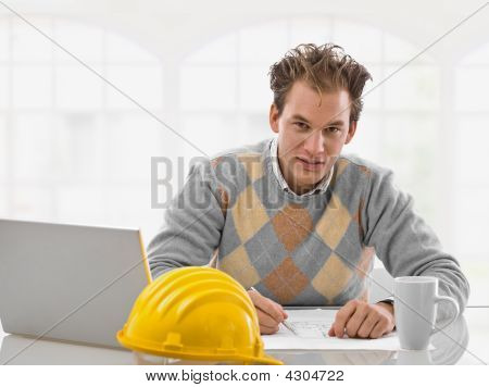 Young Architect Working