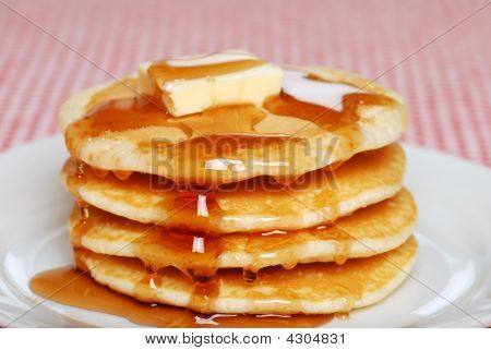 Pancakes With Syrup And Butter