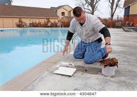 Servicio de piscina de la caída