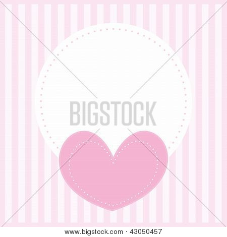 Valentines vector card or retro invitation full of love for baby shower, wedding, birthday party