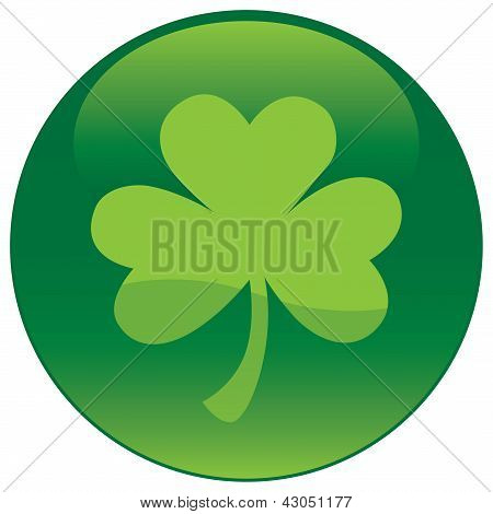 Shamrock With Tree Leaf Icon - Vector File