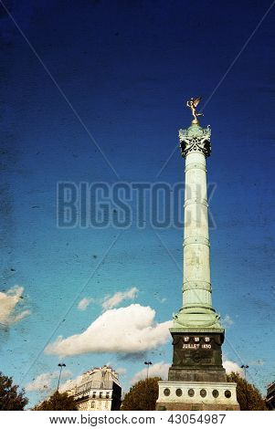 Place de la Bastille in Paris, France