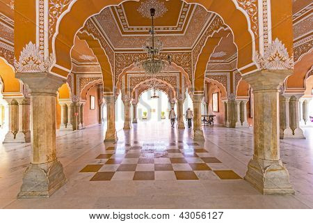 Chandra Mahal in Stadtpalais Jaipur Indien