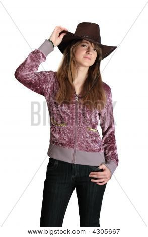 Teenager In Cowboy Hat