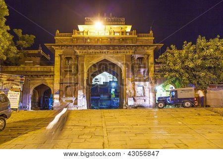 Sardar Market At The Clocktower By Night