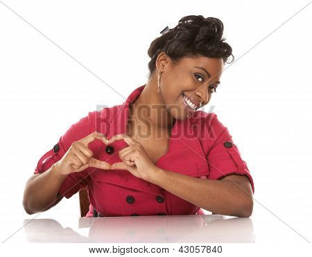 Woman And Heart Sign