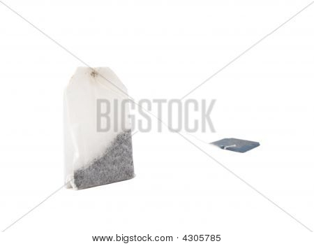 Photo Of Non-used Teabag Over White Background