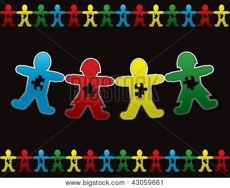 Child Autism Paper Doll Background