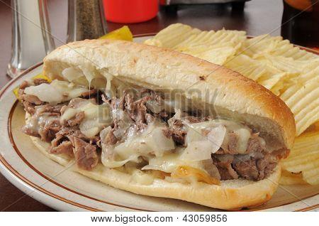 Philly Cheese Steak-Sandwich