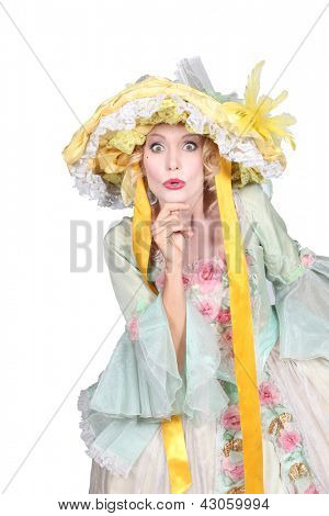 Woman wearing Easter bonnet