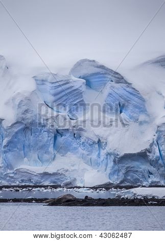 Antarctic Iceberg Wall