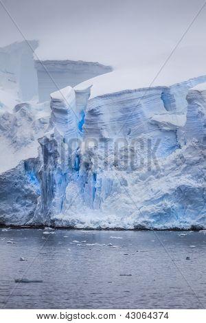Antarctic Iceberg Cracks