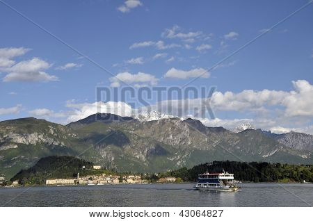 Car ferry on Lake Como