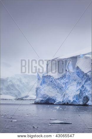 Antarctic Iceberg Mist In The Distance