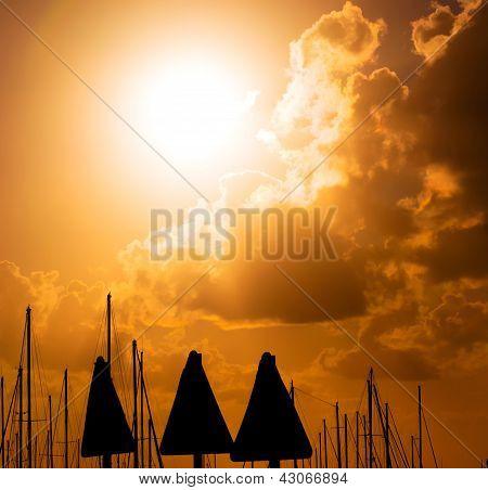 Signals At Sunset