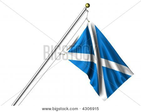Isolated Scottish Flag