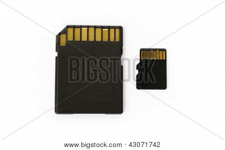 Micro SD card and SD adapter