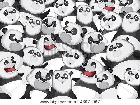 Pandas background pattern