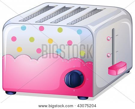 Illustration of a toaster on a white background