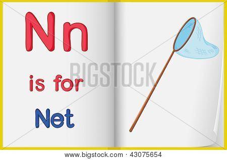 Hoja de trabajo de alfabeto para la letra N