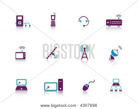 Web Icons Purple Series 9..electronics