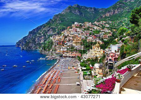 impresionante costa de Amalfi. Positano