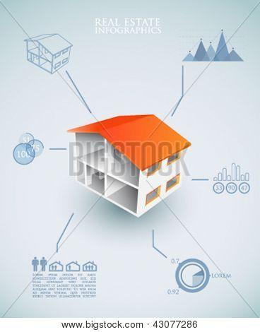Real estate infographics - vector illustration