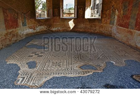 Mosaic At The Facilities Of The Roman Theatre