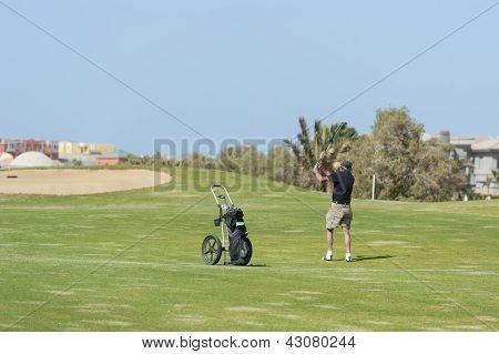 Golfer auf dem fairway