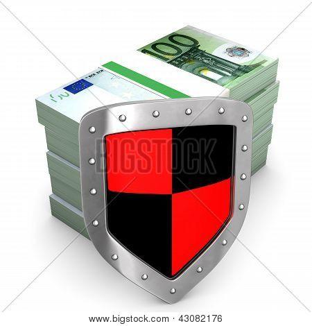 Escudo Euro dinheiro