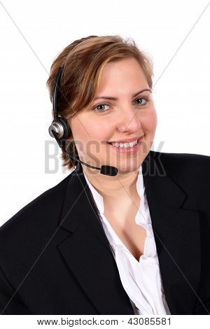 Customer service representative taking your calls