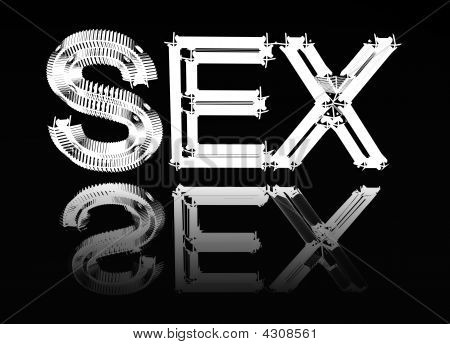 "Picture With The Image Of A Word ""sex""."