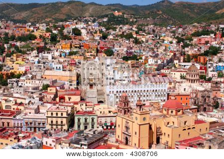 schöne Stadt Guanajuato in Mexiko
