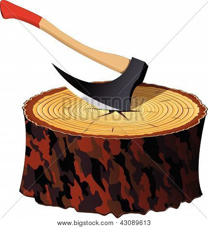 Axe And Wood