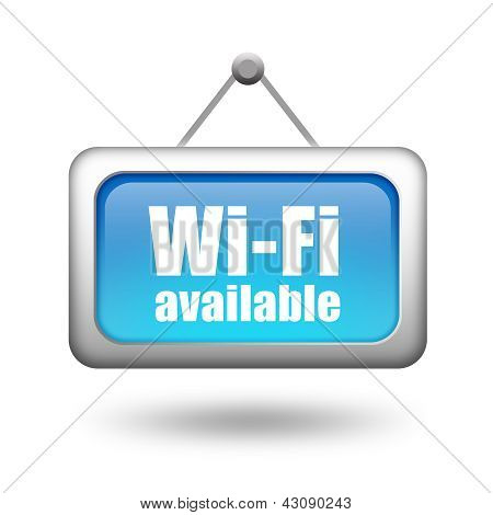Wi-fi available sign