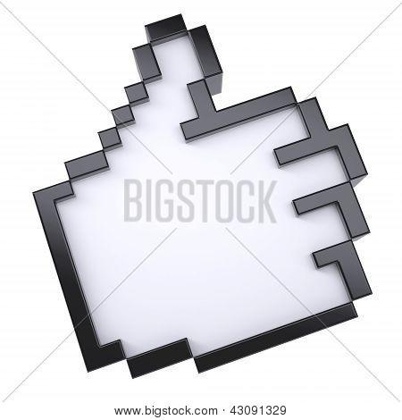 Pixel thumbs up