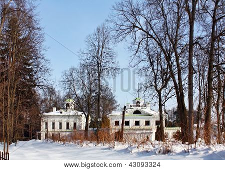 Old-time Estate Among Leafless Trees